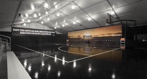 Dark Empty Basketball Gym Create a basketball court Empty Indoor Basketball Court